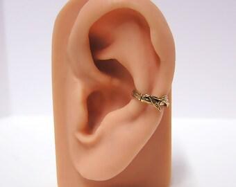 Bamboo Ear cuff  (bronze)