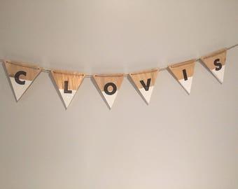 Wooden banner ~ customizable