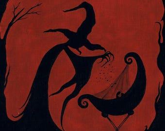 The curse - original painted illustration