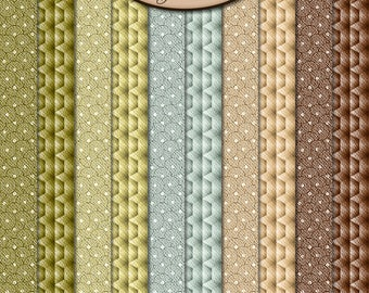 Digital Scrapbook: Paper Pack Extra, Sandalwood