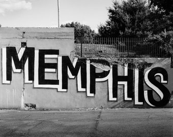 Memphis Tennessee photo print - Urban art - Black and white or color wall decor - Travel photo - Wanderlust - American city photography 8x10