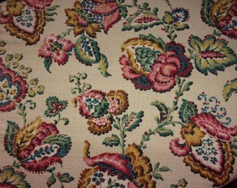 A vintage fabric or vintage large Indian flowers