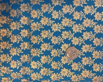 Vintage gold foiled fabric - vintage
