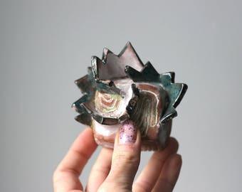 Abstrakte Keramik Kunst, Boho-Dekor, Geschenkidee, Bio Wandbehang