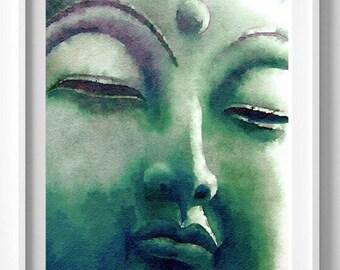 Buddha Yoga Watercolor Print, Home Decor,  Buddha art, Yoga art,Pic no 88