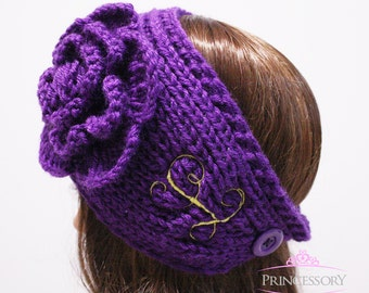 boho headband, Ear Warmers, Headband, Embroidery, Crochet headband, knit headband, knit headwrap, knit ear warmer, gift for women