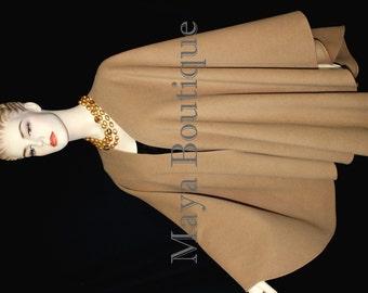 Moca Cape Ruana Wrap Coat Cashmere Wool Blend by Maya Matazaro Made in USA