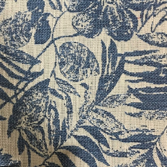 Upholstery Fabric   Oaks   Indigo   Tropical Pattern Woven Texture Home  Decor Upholstery U0026 Drapery Fabric By The Yard  Available In 6 Colors