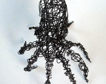 Unique Wire Sculpture - SCARY OCTOPUS