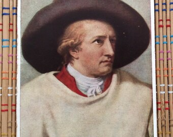 Portrait of Goethe by JHW Tischbein--Color Lithograph, c 1900