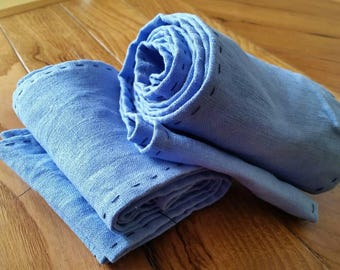 Hand sewn linen, Viking, legs bands leg wraps, winingas, Medieval clothing