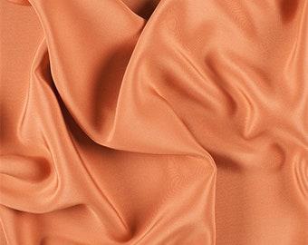 Orange 4 Ply Silk Crepe, Fabric By The Yard