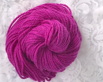 "109yds Worsted SuperFine Alpaca-Silk-Merino Yarn 50g - ""Fuchsia"""