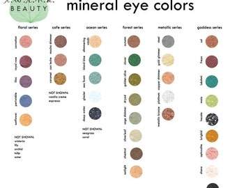 SAMPLE SET OF 3 mineral eye colors, your choice
