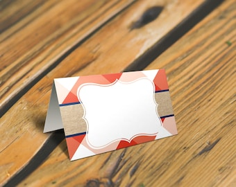 BBQ Place Cards or Food Tent Cards. Gingham country food tent card. Picnic food tent card *INSTANT DOWNLOAD*
