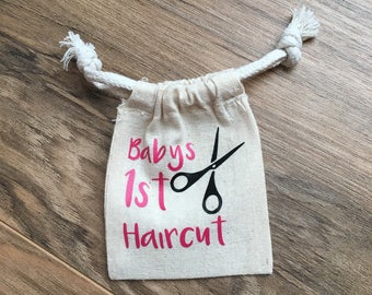 Baby's 1st Haircut Keepsake Pouch--Great Baby Shower gift