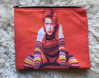 David Bowie Zipper Pouch, Accessory Case