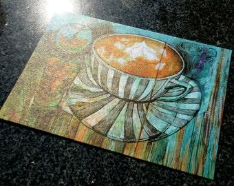 Fresh Milk Tea Postcard