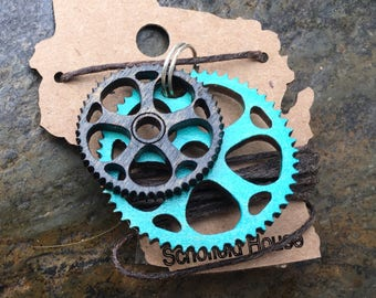Bicycle gear necklace