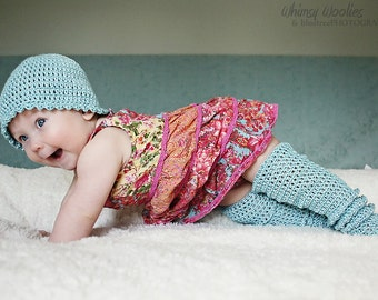 Baby Crochet Pattern: 'Raindrop' Crochet Hat & Crochet Booties