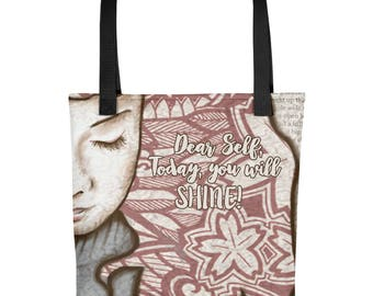 DEAR SELF All Over Tote | Tote Bag | All Around Bag | Everyday Tote Bag