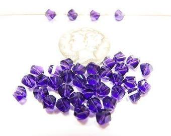 Swarovski 5020 Purple Velvet 4mm Faceted Crystal Beads (12 pieces)