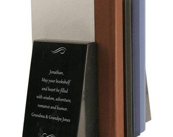 Engraved Personalized Marble Bookends