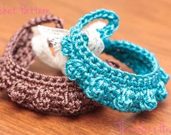 Crochet Bracelet Pattern, Jewelry Tutorial,  Digital Download Patterns, Popcorn Crochet Pattern, DIY Jewelry, Tie On Bracelet, Bohemian (15)