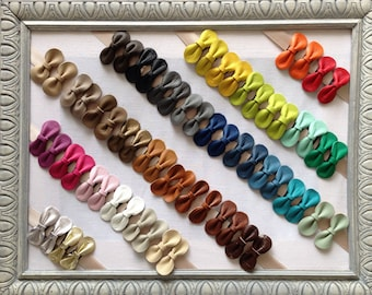Hair bow for girls and women leather, has each color choice, to order, gift idea, gift girl, MOM gift