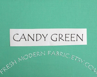 23 Inch End of Bolt Remnant Candy Green Kona Cotton Solid Fabric from Robert Kaufman, K001-1061