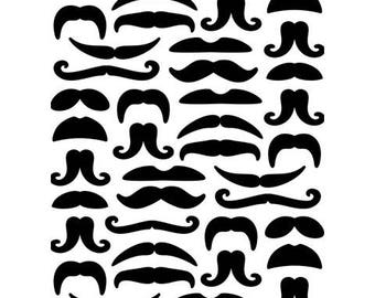 Darice Embossing Folder Mustaches Masculine 4.25 X 5.75  inches Card Making