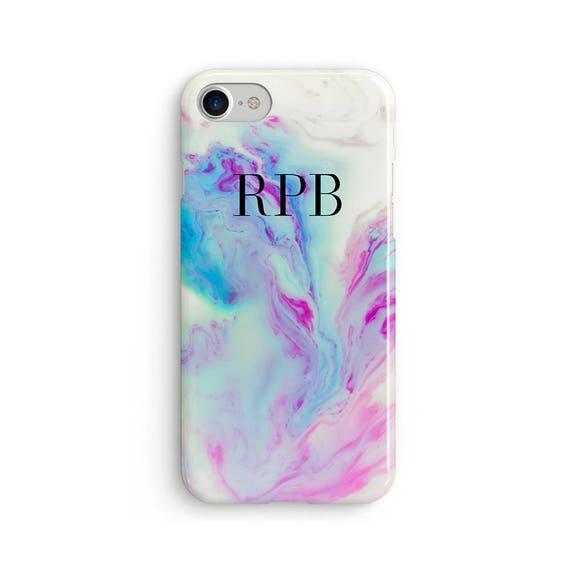 Custom initial marble mermaid pastel  iPhone X case - iPhone 8 case - Samsung Galaxy S8 case - iPhone 7 case - Tough case 1P059