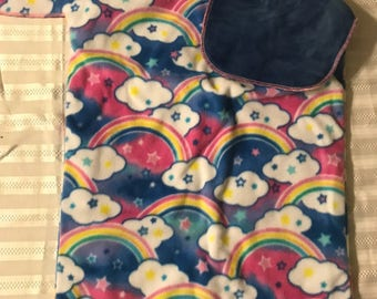 Rainbows and Clouds ToddlerRoo Car Seat Pouch
