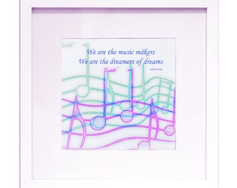 """We Are The Music Makers - 12"""" x 12"""" HD Digital Print"""