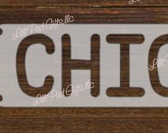 BBQ CHICKEN - 22.5x3 - Re-usable stencil