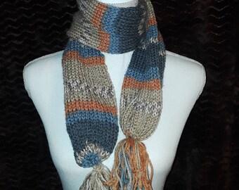 Alpaca handknit scarf