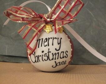 Personalised Christmas ball ornament MEDIUM