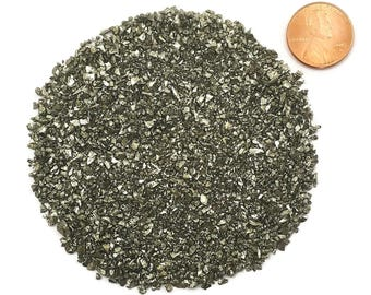 Crushed Pyrite or Fool's Gold, Medium, 1 Ounce