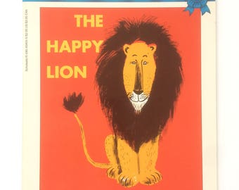 Classic Collectible Vintage Children's Book - The Happy Lion - by Louise Fatio - pictures by Roger Duvoisin - 1954