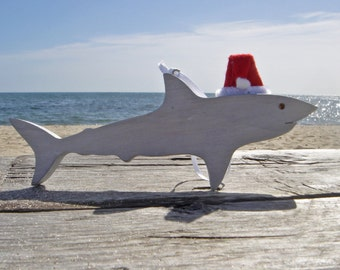 Santa Shark Ornament