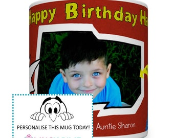 Personalised Boy Superhero Birthday Mug. Kids Mugs. Boy's Mug. Children's Personalised Mugs. Little Boy Birthday Gift.  Kid's Mug. Superhero