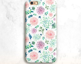 Floral iPhone 8 Case, Flowers iPhone X Case, iPhone 7 Case, iPhone 6, iPhone SE Case,Floral iPhone 8 Plus Case,Flowers 7 Plus, 6 Plus case
