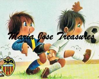 Vintage Images of Children playing soccer - Digital Download