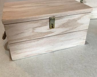 Unfinished Wooden Ammo Boxes  - handmade with rope handles