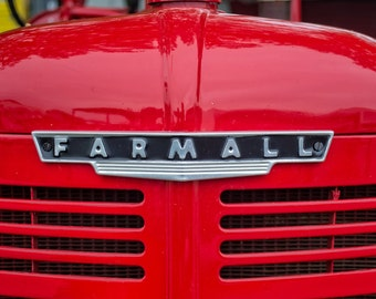 Farmall Tractor Photography, Tractor Photo, Farming Photography, Farm Art, Tractor Lover, Vintage Red Tractor, International Harvester
