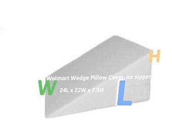 Walmart Wedge Pillow Cover, 7.5H