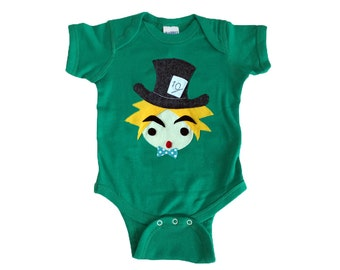 The Hatter - Alice's Adventure in Wonderland - Infant Bodysuit - Baby Clothing - Gift