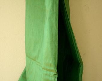 SILK FABRIC / fresh green / etsy australia / runningthreads