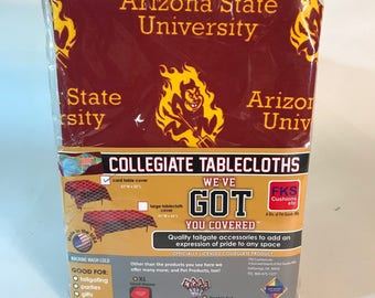 """Arizona State Table Cloth-52""""X 52""""-ASU Card Table Cover-Brand New-NCAA Table Cloths-for over 30 Schools"""