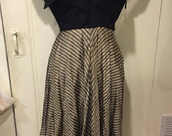 Beautiful 1940s dolman sleeve dress, AS IS